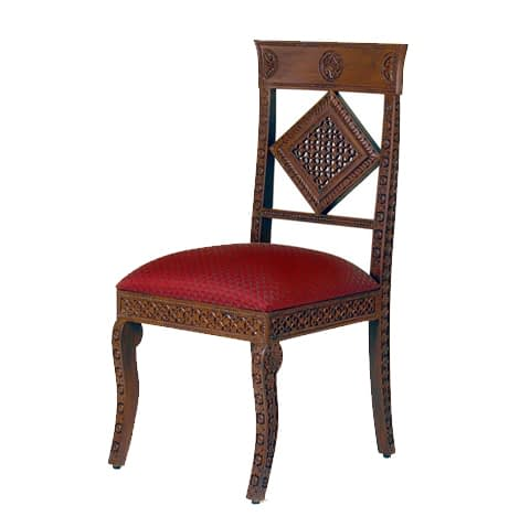 Carved Chair With Design At Back