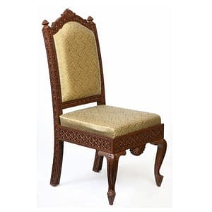 Royal Carving On Front And Back Cushion Chair