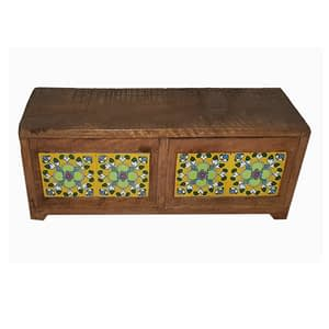 Wooden Sitting With Two Section And Tile Fit Design