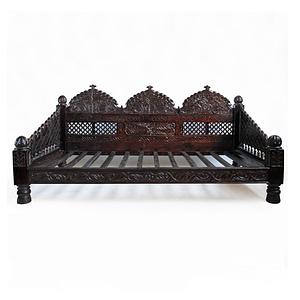 Antique Wooden Single Sofa