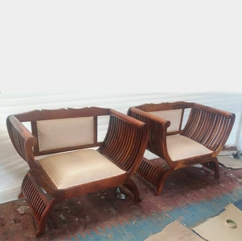 Wooden Diwan Sitting